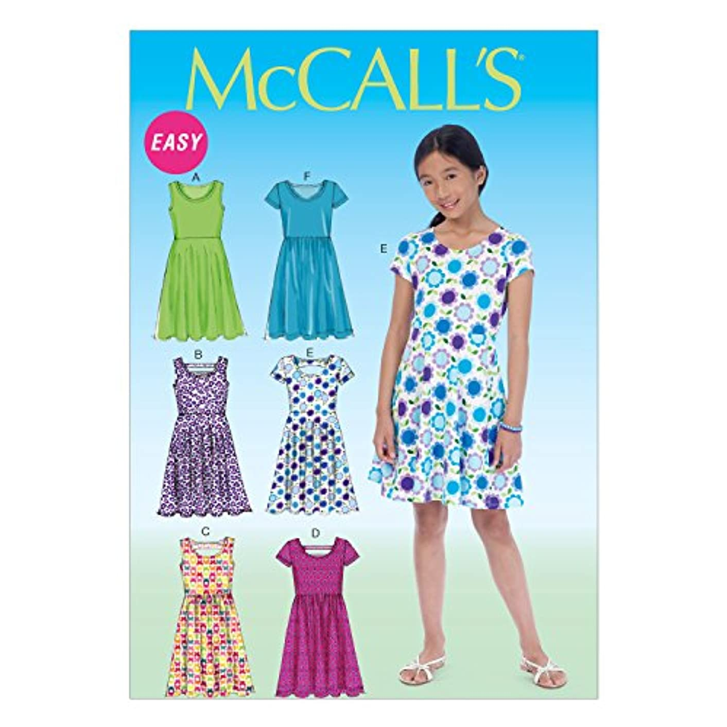 McCall Pattern Company M7079 Girls'/Girls' Plus Dresses, Size PLS