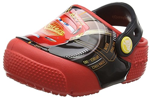 Crocs Fun Lab Lights Cars 3 Clog, Unisex - Kinder Clogs, Rot (Flame), 34/35 EU