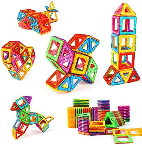 shengqing Magnetic Building Blocks Educational Toys Tiles Set for Boys & Girls Magnet Stacking Block Sets for Kid's Basic Skills Learning & Development Toys-Excellent Children's Gifts(k)