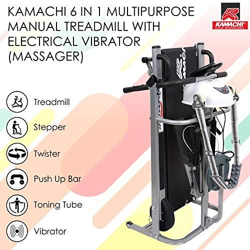 Kamachi 6 in 1 Manual Multipurpose Treadmill with Electric Vibrator