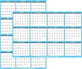 24' x 36' SwiftGlimpse 2021 Wall Calendar Erasable Large Wet & Dry Erase Laminated 12 Month Annual Yearly Wall Planner, Reversible, Horizontal/Vertical, Blue