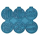 ShapeW Año Nuevo/Navidad DIY redondo llavero silicona epoxi molde DIY llavero colgante joyería artesanía molde para regalo de vacaciones