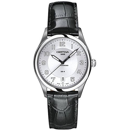Check price certina c0224101603000 38 stainless steel case black leather anti reflective for Anti reflective watches