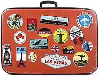 Wall4stickers Gepäckaufkleber Kofferaufnäher Vintage Reise 17x Etiketten Retro Vintage-Stil Vinyl Aufkleber
