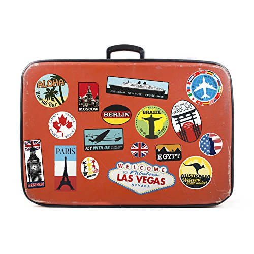 Luggage stickers suitcase 17x patches vintage travel labels retro vintage graffiti iphone car stickerbomb style vinyl decals door skateboard cafe