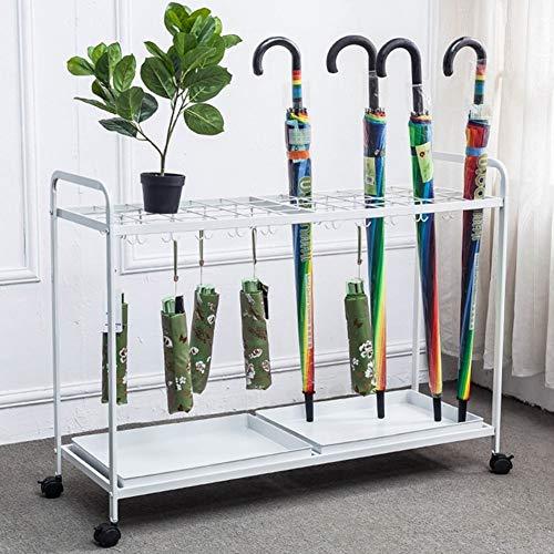 YSJJH Parapluhouder van metaal, hoge capaciteit, met houder voor vloer, paraplu, houder voor bloemen, multifunctioneel, met lekbak