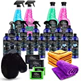Pure Definition Car Detailing Kit, Exterior and Interior Cleaning Set, Polish Wax Wash Wheel Glaze...