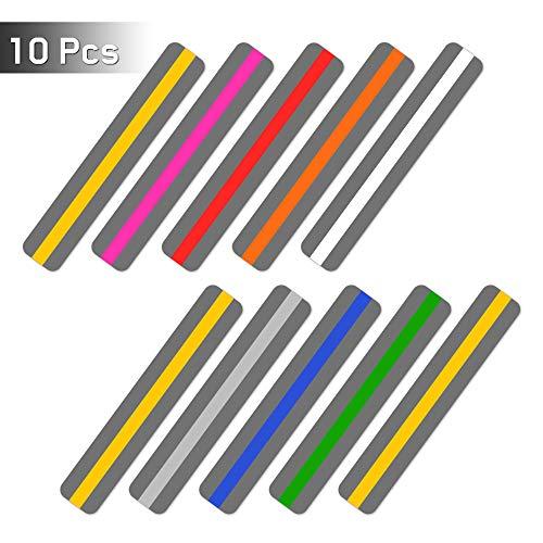 Ipow Geführte Lesestreifen, 10 Stück Markierungsstreifen Farbige Guided Reading Strips buntes Lesezeichen für Lesehilfe bei Dyslexie ADHS oder visuellem Stress