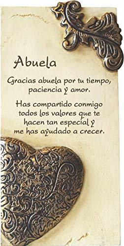 Framan PERGAMINO DE Piedra LABRADA con Textos para Ocasiones Especiales, Ideal para Regalo Original Y ECONÓMICO. Especial Abuela CORAZÓN