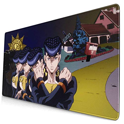 Bizarre Adventure Pad 40 x 75 cm Multiusos Cómodo Impermeable Almohadilla de Escritorio Alfombrilla para Gamer Oficina Hogar (40 x 75 cm)