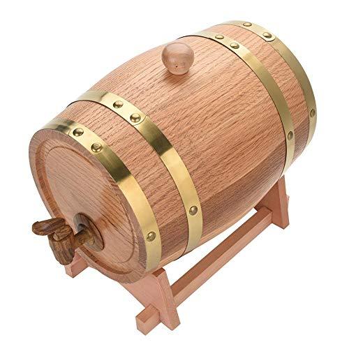 Barril de Vino Hogar,Pequeñas Barricas de Vino de Roble para Uso Propio Apto para Familias y Bodegas Privadas(3L)