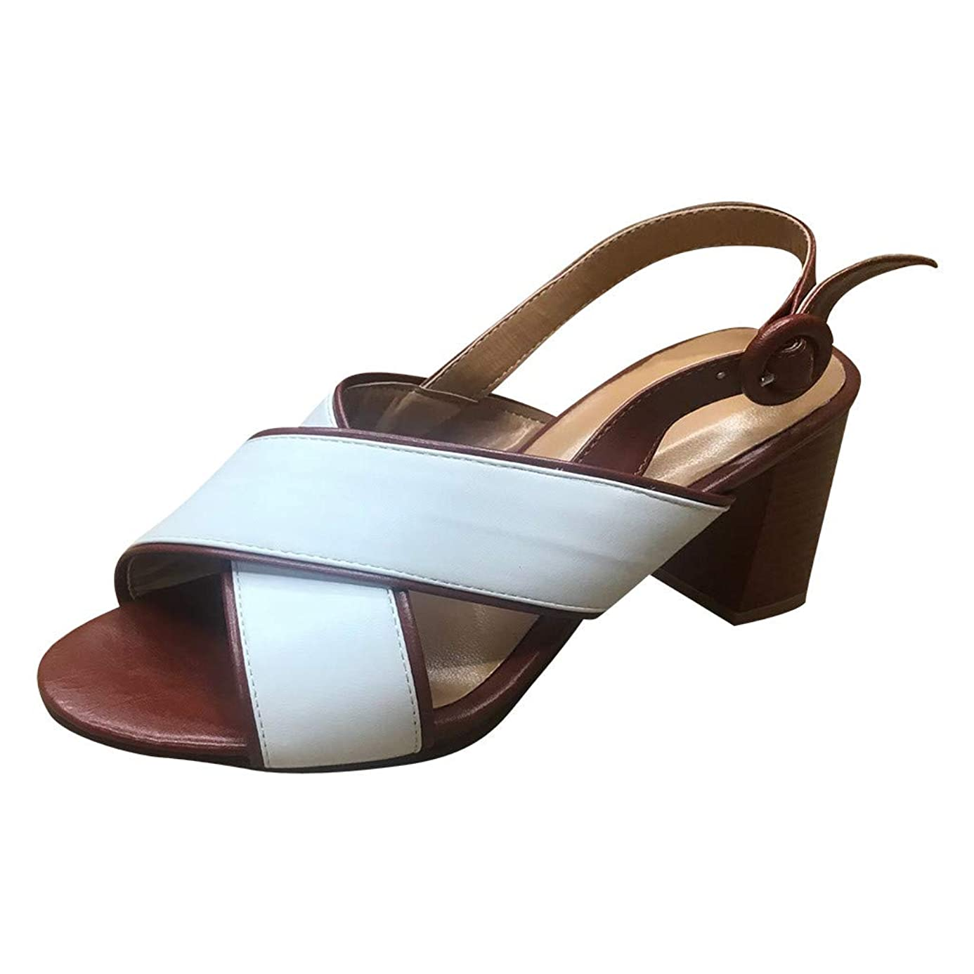 Respctful?Women's Slingback Block Heel Peep Toe Sandals Geniune Leather Platform Wedge Sandals ngk8732760