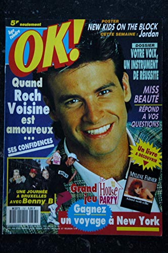 OK ! âge tendre 797 22 au 28 avril 1991 ROCH VOISINE - New Kids on the Block Jordan mini poster - Mylène Farmer -
