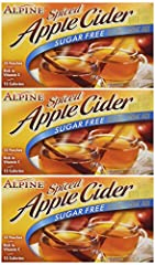 Alpine Pack of 3 Sugar Free, Apple Flavored Drink Mix Spiced Cider 1.4oz Box