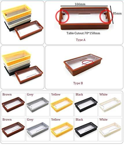 Piner 10 stks/partij rechthoek plastic tafel tv kast bureau draad kabel grommet, bruin, type b