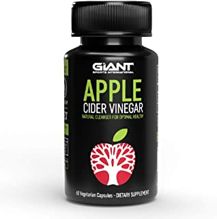 Giant Keto Apple Cider Vinegar Pills for Natural Detox, Weight Loss and Digestive Support for Optimal Health - 60 Count