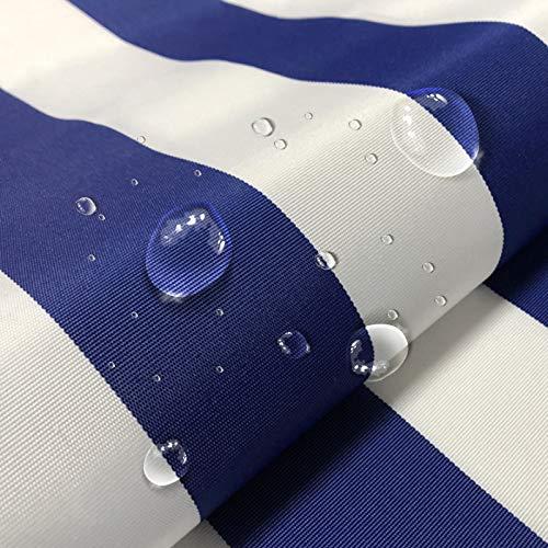 AOFEI Wasserdichter Stoff markisenstoffe meterware markisenstoff Strandkorb Sonnenschutz als Meterware für Terrassen-Überdachung Zeltplane für Outdoor Stoff 150cm breit 100cm Länge Blau