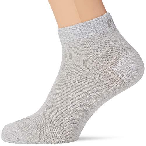 PUMA Unisex Quarter Plain Socks (5 Pack) Chaussettes, Anthracite/Gris mélangé, 35-38 (Lot de 5) Mixte