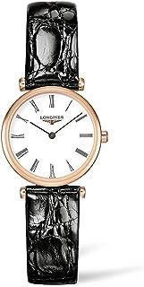 Longines La Grande Classique White Dial Black Leather Ladies Watch L42091912
