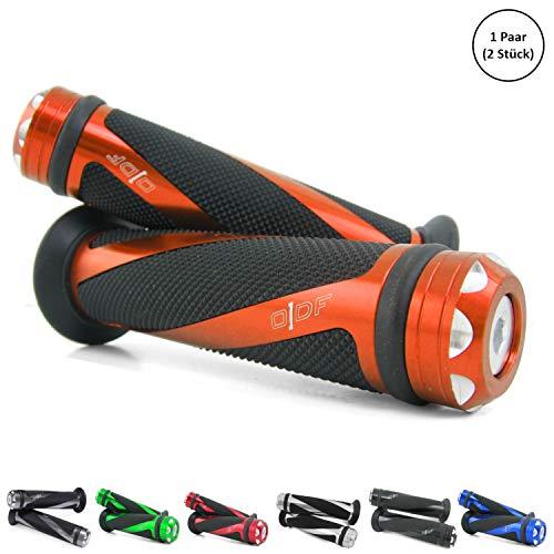 Universal Motorrad/Roller Lenkergriffe Griffgummis 22/24-25mm (Coil) (Orange)