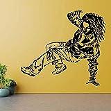 Break dance vinilo danza movimiento pista de baile hip hop para familia pegatinas de pared de papel