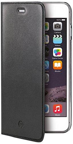 Celly Buddy Custodia a Portafoglio con Cover Magnetica Staccabile per iPhone 6/6S, Ecopelle, Nero