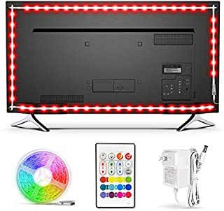 TV LED Backlight,Bason Strip Lights with Remote for 85-90in TV, 4096 DIY Color Changing Lights, SMD 5050 LEDs TV Bias Lighting with Power Supply, Upgraded, Ultra-Long, for HDTV.