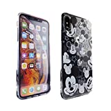 iPhone Xs Max Case Mickey Mouse Faces,DURARMOR FlexArmor Rubber Flexible Bumper Shockproof Ultra Slim TPU Case Drop Protection Cover for iPhone Xs Max- Mickey Mouses Face