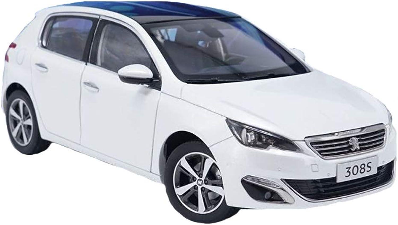 GAOQUN-TOY 1 18 Dongfeng Peugeot 308S Legierung Automodell (Farbe   Weiß, größe   26cm10cm9cm) B07Q5HDT9M Innovation  | Spielen Sie das Beste