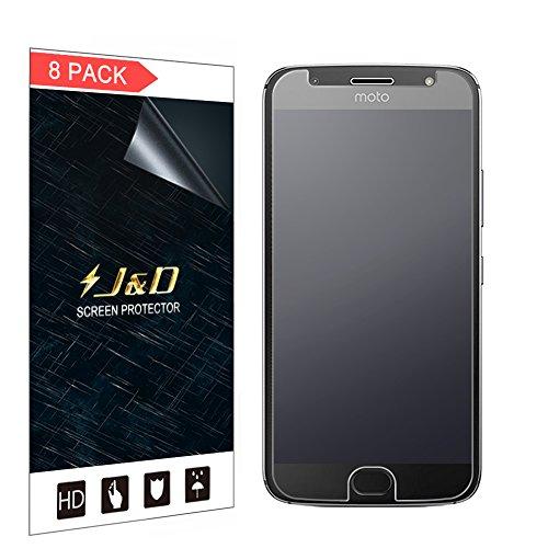 J&D Compatibile per 8 Confezioni Moto G5S Plus Protezione Schermo, [Anti-riflesso] [Anti-Impronte] [Non Piena Copertura] Premium Matte Pellicola Protettiva per Motorola Moto G5S Plus