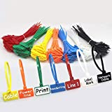 NICE PURCHASE 250pcs 6 inch Wire Zip Ties Self-Locking Plastic Nylon Cable Ties Multicolor Network Wire Plastic Straps Label Mark Tag