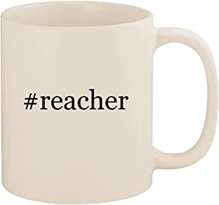 #reacher - 11oz Ceramic Coffee Mug Cup, White