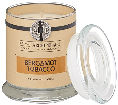 Archipelago Botanicals Bergamot Tobacco Glass Jar Candle