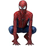 ZXDFG Costume Spiderman Bambino,Costume Spiderman Homecoming Halloween Carnival Cosplay Spider-Man Maschera 3D Stampa Supereroe Costumi Spiderman,Spandex/Lycra