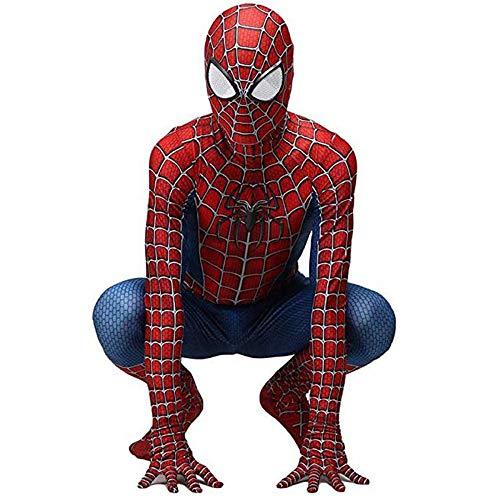 Spiderman Kostüm Kinder,Halloween New Spiderman Homecoming Kostüm,Kids Spiderman Web Verkleidung Party Cosplay Bühnen Performance Anzug,Unabhängige Maske,Spandex/Lycra