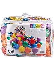 Intex Fun Balls, Multi-Colour, 100 Pieces, 49600