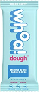 WHOA DOUGH Cookie Dough Bar | Sprinkle Sugar Cookie Dough | Gluten Free Snack Bars, Dairy Free, Non GMO Healthy Snacks for Kids and Adults, Made with Whole Food Ingredients | 10 Bars