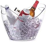 ZRDSZWZ Confiable 8L cubo de hielo transparente cocina vino champán botella de cerveza contenedor titular botella contenedor titular