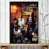 sanzangtang Cartel Musical y Lienzo de Grabado-Pintura sin marco60X90cm