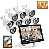 [2020NEUE・3MP] SOOHAO überwachungskamera System WLAN, überwachungskamera mit Monitor...