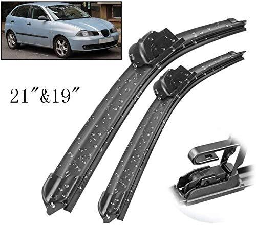 BTSDLXX 2Pcs Coche Delantero Limpiaparabrisas Cuchillas, para Seat Ibiza MK3 6L 2002-2006 LHD Parabrisas Rasquetas Brazos Hojas Repuesto Conjunto Accesorios