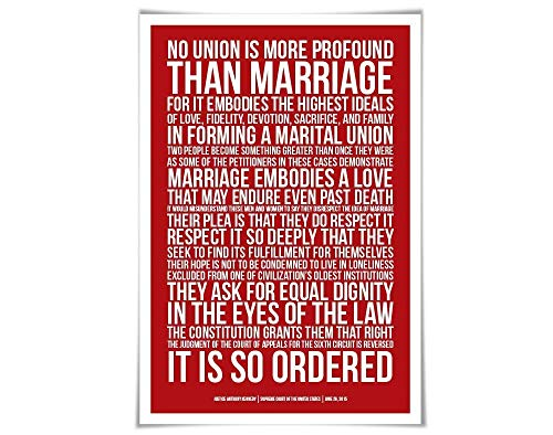 Gay Marriage Supreme Court Decision Art Print. 60 Colours/43Sizes. Same Sex Wedding Poster. Human Civil Rights. Marriage Equality. LGBTQ Love is Love