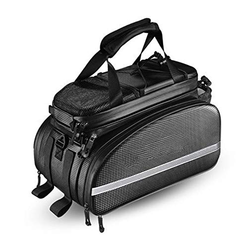 Big Save! 10L Waterproof Bike Trunk Bag Hard Shell Reflective Bicycle Commuter Bag with Handle Panni...