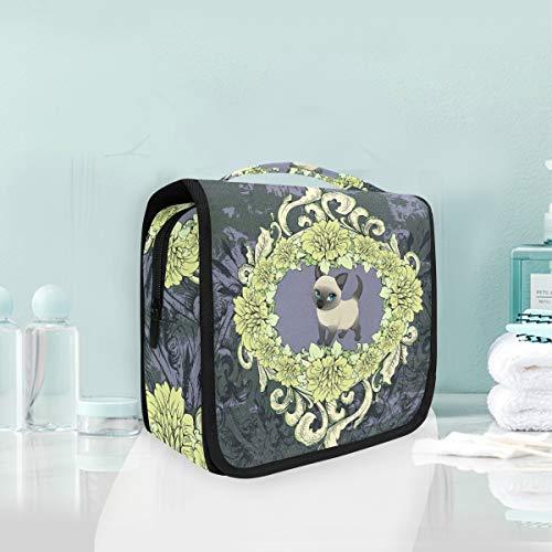 Chat D'Art Noir Trousse De Toilette Sac Pliable Suspendu Cosmétique Sac Rangement Maquillage sacs pour Voyage Femmes Filles