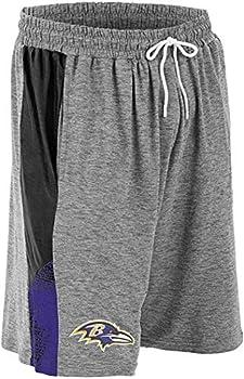 Zubaz NFL Men s Gray Space Dye Shorts Baltimore Ravens XXX-Large