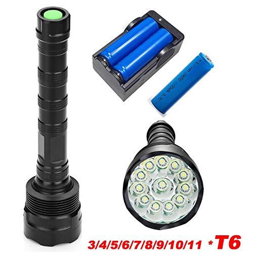 8 T6 : 11 x XML T6 LED puissante 50000 lumens lampe torche lampe torche lampe torche lampe torche lampe lanterne