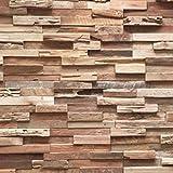 3D Holzpaneele/Holzverblender - Wandpaneele Holz für Wand - Ultrawood Wandverkleidung Innen - Haus,...