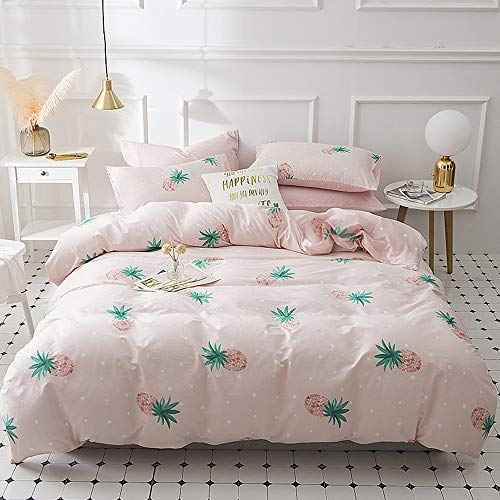 Pineapple printed bedding quilt cover