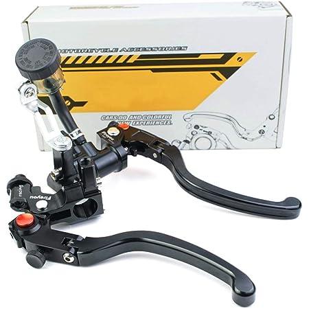 1 Paar Motorrad Brems Und Kupplungshebel Universal Bremskupplung Hauptbremszylinder Behälter 7 8 22mm Silber Auto