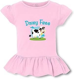 Dairy Free Short Sleeve Toddler Cotton Girly T-Shirt Tee